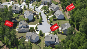 picture of houses with price tags