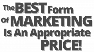 picture of text saying the best form of marketing a home is an appropriate price