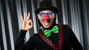 picture of a clown home buyer
