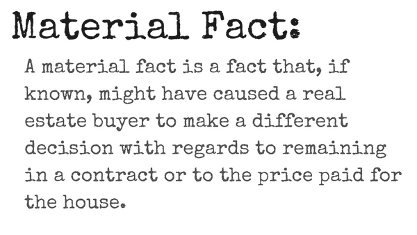 definition of material fact in real estate