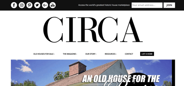 picture of circaoldhouses.com homepage