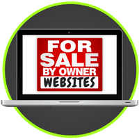 picture of laptop with for sale by owner websites on screen