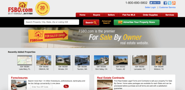 picture of fsbo.com webpage