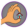 picture of an tiny house icon