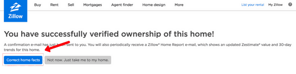 picture of zillow correct home facts