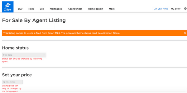 picture of zillow for sale by agent