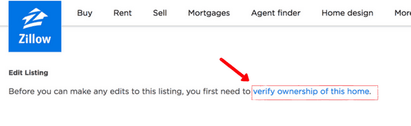 picture of zillow verify ownership of home
