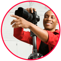 picture of a photographer preparing to take photos