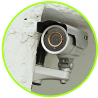 picture of home video monitoring cameras