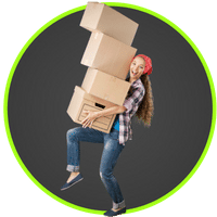 picture of woman buying boxes for moving