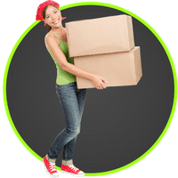 picture of a woman carrying free moving boxes