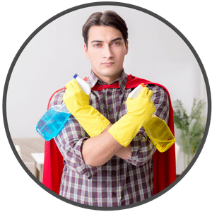 picture of a man with enzyme cleaners