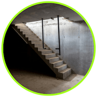 picture of stairs going down to basement