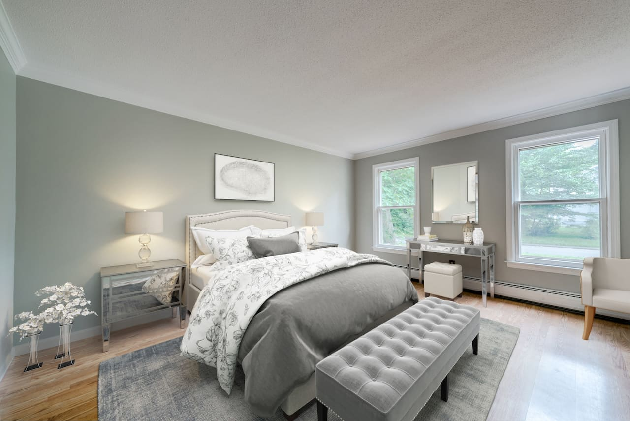 picture of virtually staged bedroom by Blue-Sketch