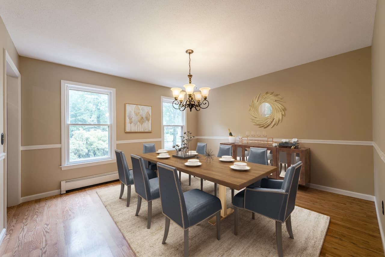 picture of virtually staged dining room by Blue-Sketch