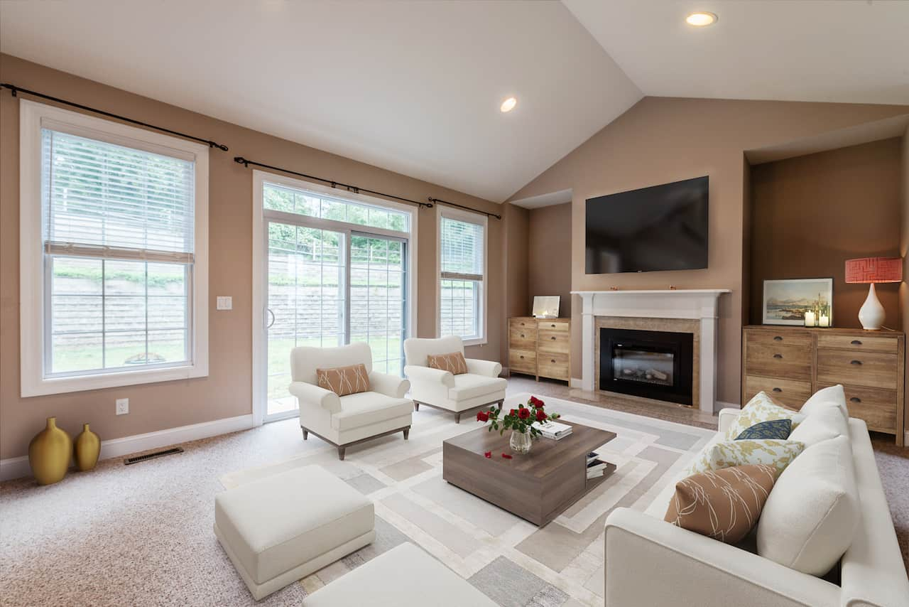 picture of virtually staged living room by Blue-Sketch