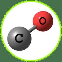 picture of carbon and monoxide molecule
