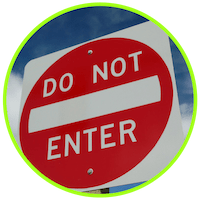 picture of a do not enter sign