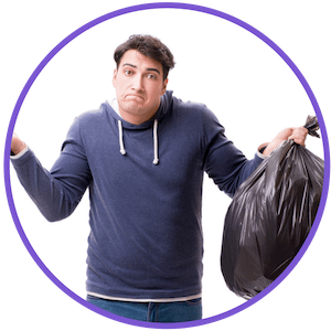 picture of a man with a garbage bag