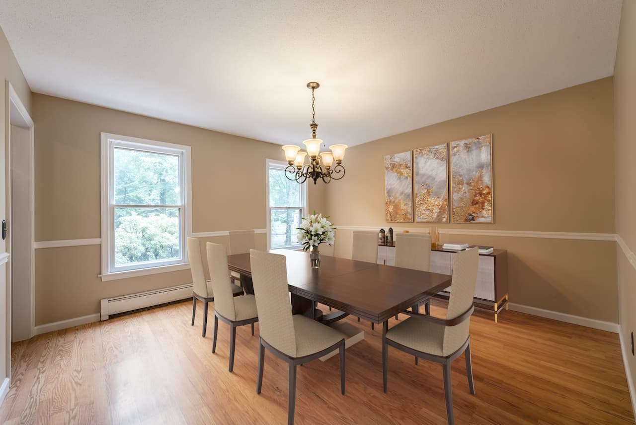 picture of virtually staged dining room by Hasten