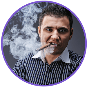 picture of a man smoking a cigar