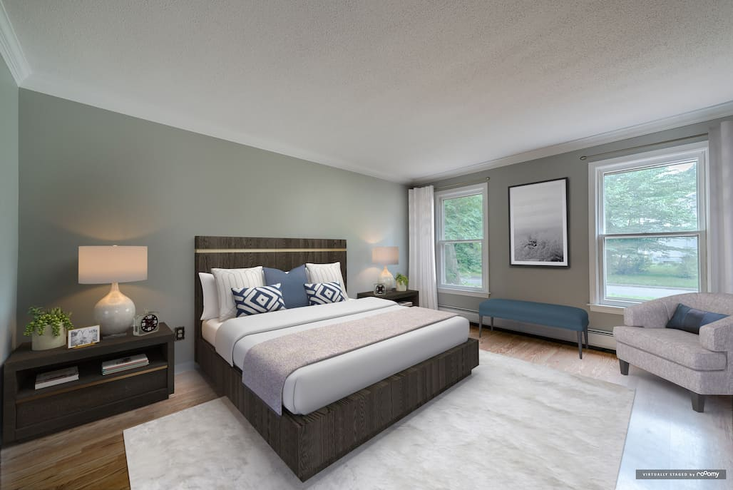 picture of virtually staged bedroom by rooomy