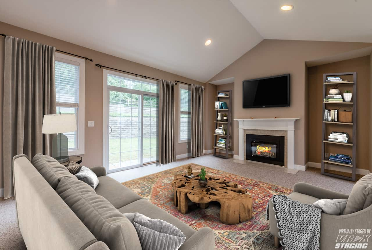 picture of virtually staged living room by VRX Staging