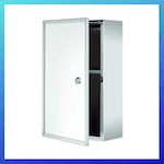 picture of Croydex Trent Stainless Steel Lockable Surface Mount Medicine Cabinet with Keys
