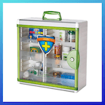 picture of Glosen Locking Medicine Cabinet Wall Mounted and Portable Storage Container Big Capacity Green