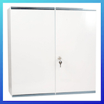 picture of Reliance Medical 215 Locking Metal First Aid - Medicine Cabinet, Double Door