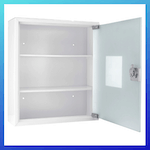 picture of Winbest Large Wall Mount Steel Medical Medicine Storage Cabinet with Glass Door