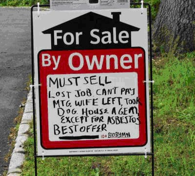 picture of motivated seller sign