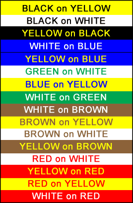 picture of sign colors
