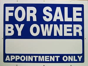 picture of a for sale by owner sign with by appointment only