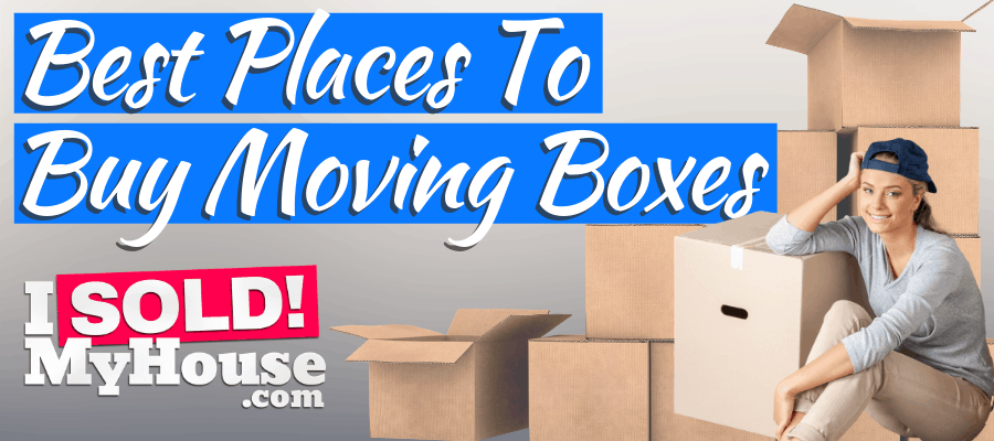 picture of a woman buying moving boxes for cheap