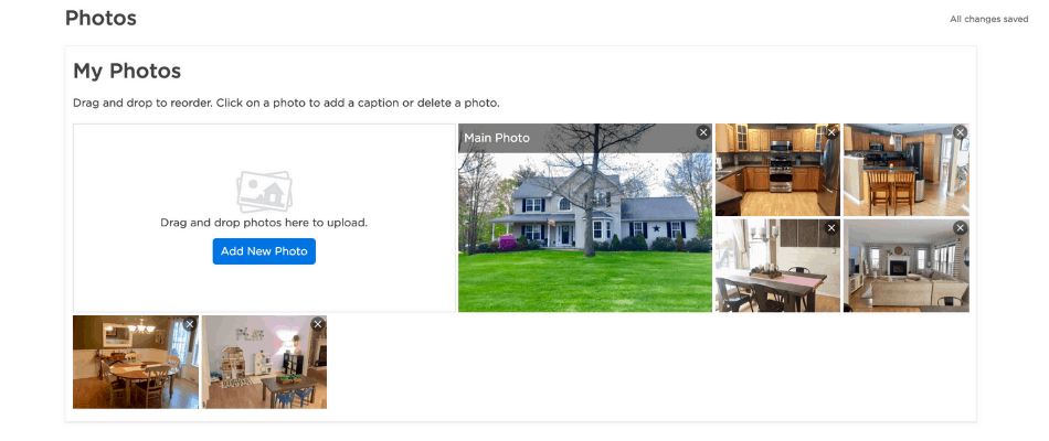 picture of adding photos to zillow listing