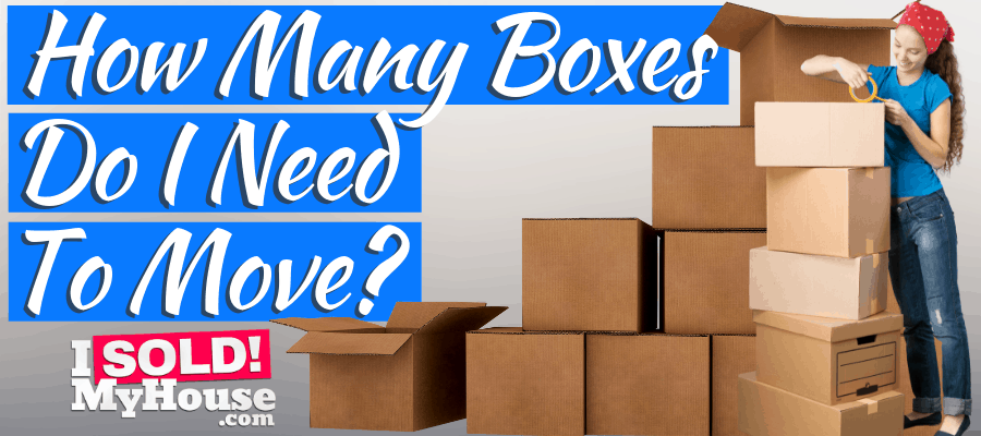 picture of a woman calculating the boxes needed to move
