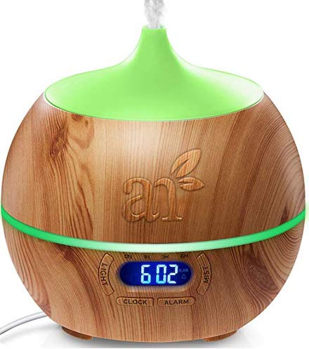 picture of ArtNaturals Essential Oil Diffuser and Humidifier with Bluetooth Speaker Clock