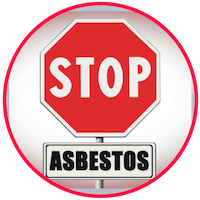 picture of asbestos warning sign