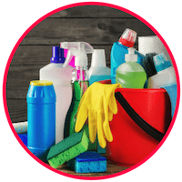 picture of harsh cleaning products