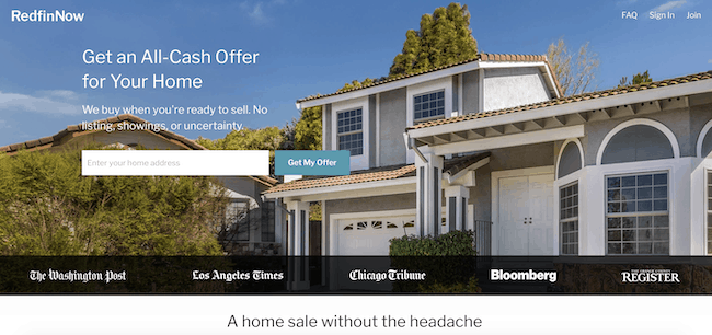 picture of redfin now website
