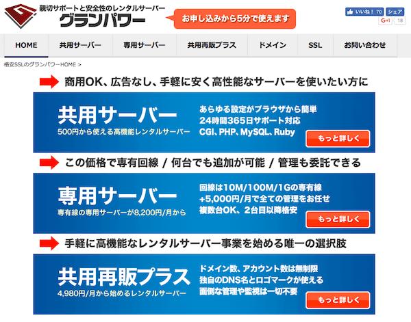 レンタルサーバー【グランパワー】で安全に運営する!口コミランキングレンタルサーバー