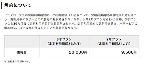 ビッグローブ光.net解約