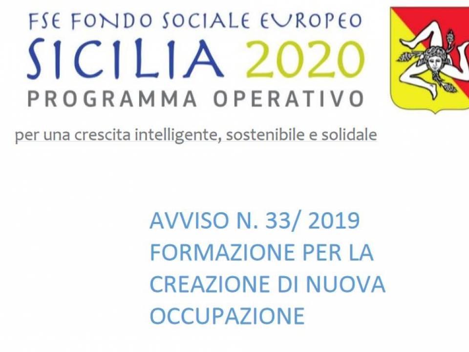 BANDO RECLUTAMENTO PERSONALE AVVISO 33/2019