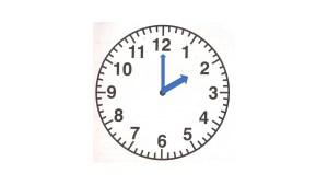 clock at 2 o'clock
