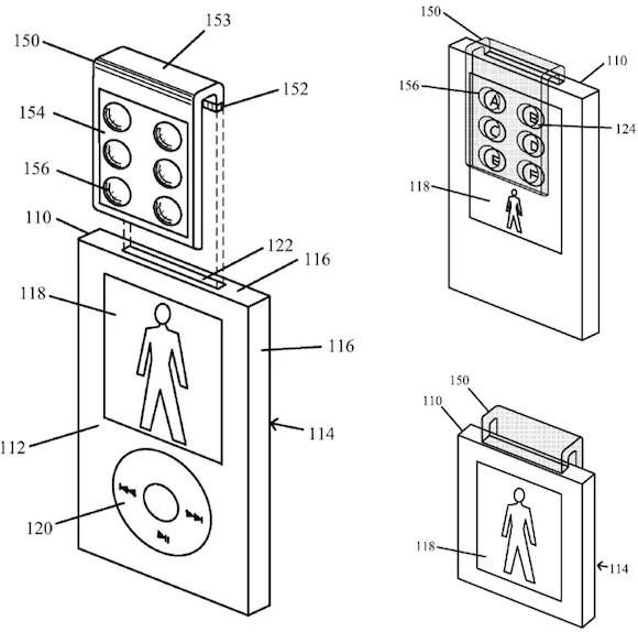 Apple inventa la clip tattile rimovibile progettata per