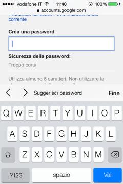 Suggerisi password