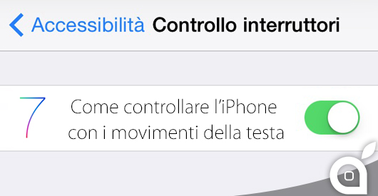 controllare iphone con movimenti della testa