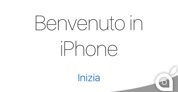 benvenuto in iphone