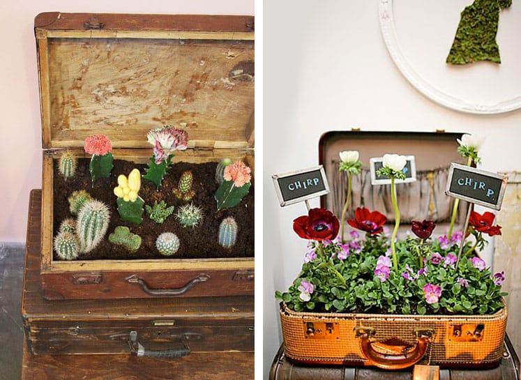 20 idee fai da te con il riciclo delle valigie vintage  Ispirando